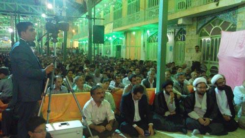 محفل انس بافرآن باحضور دکتر علم الهدی سید محمدحسین طباطبایی در دهاقان