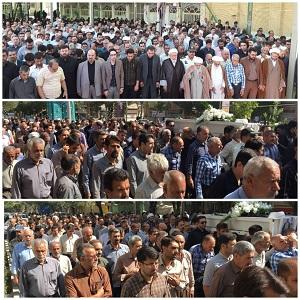 مراسم تشییع و به خاکسپاری حضرت حجه الاسلام و المسلمین محمدحسین مؤمن پور رحمه اللهبرگزارشد.