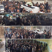 مراسم تشییع و به خاکسپاری حاج محمدتقی مومن پور برگزارشد.