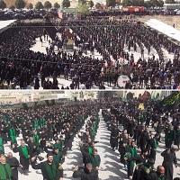 تجمع باشکوه هیئت های زنجیر زنی دهاقان در روز تاسوعای حسینی