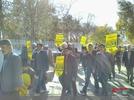 راهپیمایی مردم دهاقان در محکومیت اغتشاشات