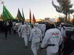 کاروان پیاده انصار الحسین(ع) در دهاقان
